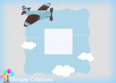 miroir ou cadre photo décor avion