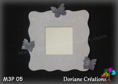 Miroir gris clair 3 papillons gris 05