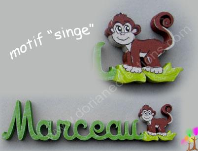 Motif singe pour prenombois