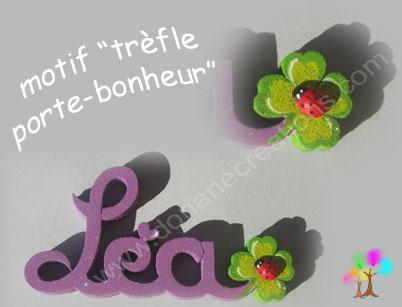 Motif trefle pour prenombois