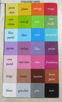 Nuancier des couleurs unies pour prenoms en bois 1