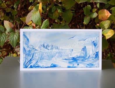 03- Carte panoramique peinte à l'encaustique CP03