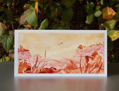 08- Carte panoramique peinte à l'encaustique CP08