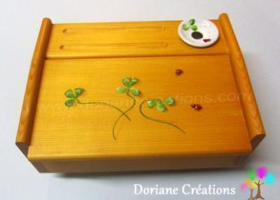04-Petite écritoire en bois décor coccinelles