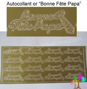 sticker or Bonne fête papa