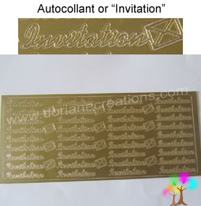 Plaque autocollant or invitation