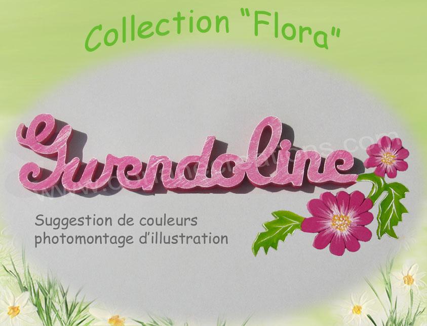 Plaque de porte fleur 10lettres