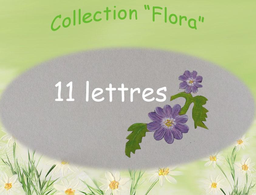 Plaque de porte fleur 11lettres