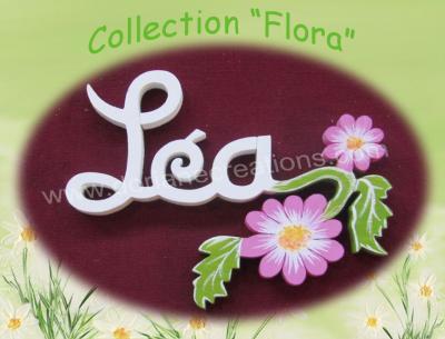 03 lettres - PRENOM EN BOIS DECO FLEURS