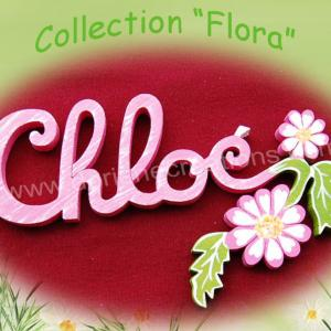 Plaque de porte fleur 4lettres