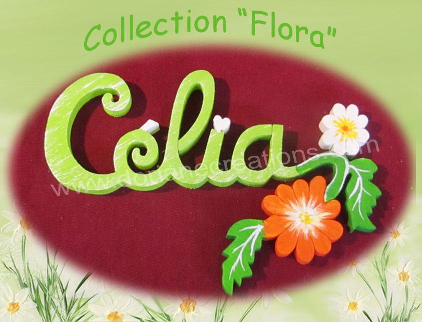 Plaque de porte fleur 5 lettres