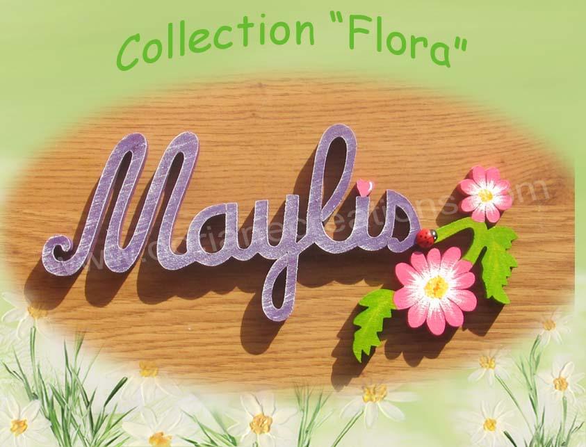 Plaque de porte fleur 6lettres