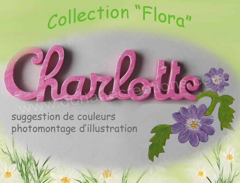 Plaque de porte fleur 9lettres