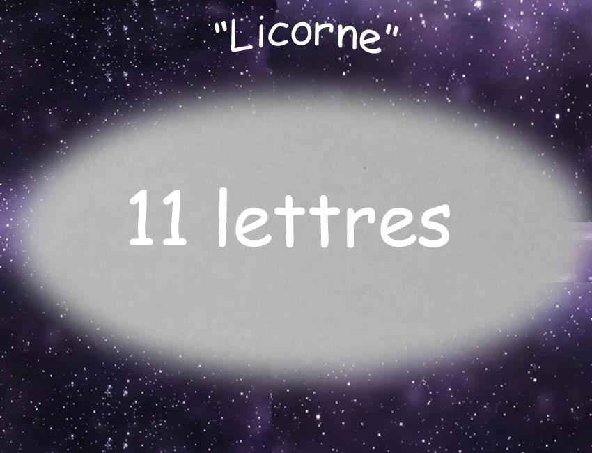 Plaque de porte licorne 11lettres