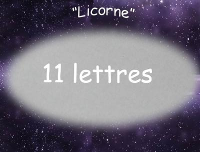 11 lettres - Prénom en bois licorne