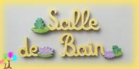 Plaque de porte mot salle de bain lettres bois
