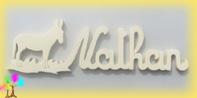 Plaque de porte prenom bois a peindre ane