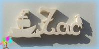Plaque de porte prenom bois a peindre avec bateau pirate