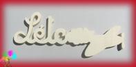 Plaque de porte prenom bois a peindre avion