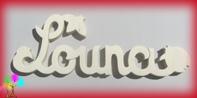Plaque de porte prenom bois a peindre coccinelles