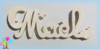 Plaque de porte prenom bois a peindre lune et etoiles