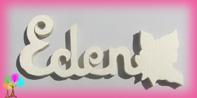 Plaque de porte prenom bois a peindre rose