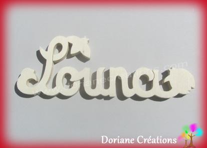 Plaque de porte prenom bois naturel a peindre theme coccinelles