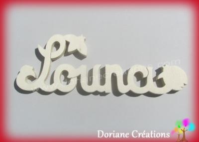 Prénom lettres bois naturel coccinelles