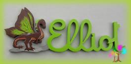 Plaque de porte prenom lettres en bois dragon