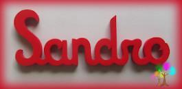 Plaque de porte prenom lettres en bois simple