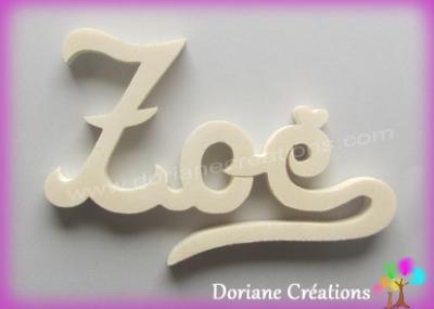 Prénom lettres bois naturel signature