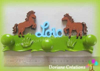 Porte-manteau chevaux avec prénom