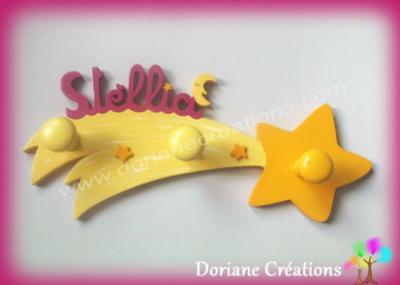 portemanteau étoile filante avec prénom