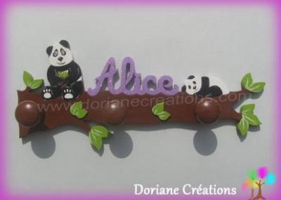 00 Portemanteau pandas sur branche avec prénom Alice