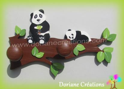 Porte manteau pandas