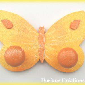 Porte manteau papillon jaune