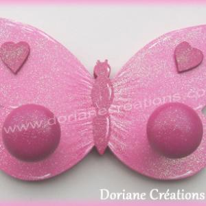 Porte manteau papillon rose