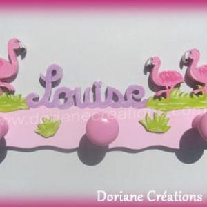 Portemanteau bois flamant rose