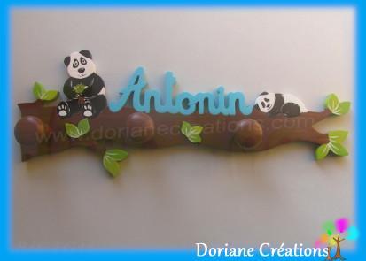 Portemanteau bois pandas antonin