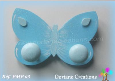 11 Portemanteau bleu papillon solo