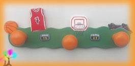 Portemanteau enfant basket ball