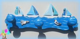 Portemanteau enfant bateaux