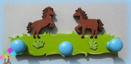 Portemanteau enfant cheval