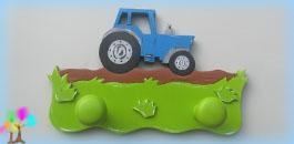 Portemanteau enfant garcon tracteur