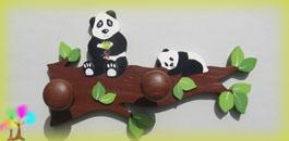 Portemanteau enfant pandas