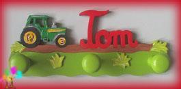 Portemanteau enfant prenombois garcon tracteur
