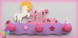 Portemanteau enfant prenombois licorne