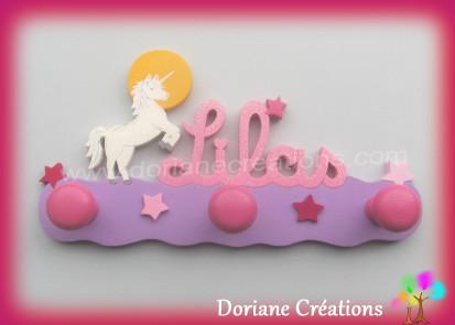 Portemanteau licorne et prenom