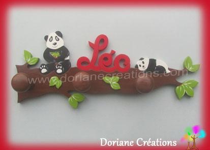 Portemanteau pandas avec prenom leo