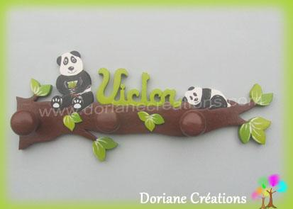 Portemanteau pandas avec prenom victor